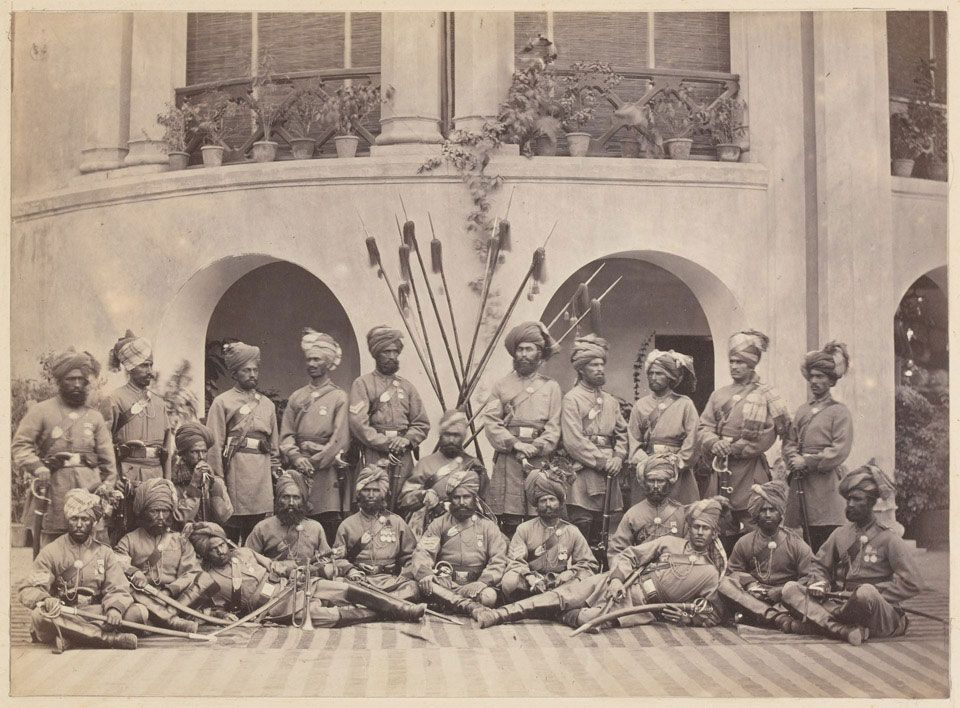 Indian NCOs of the Guides cavalry, 1879