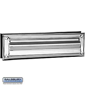 Salsbury 4045 Mail Slot Standard Magazine Size Slot Chrome Finish Solid Doors