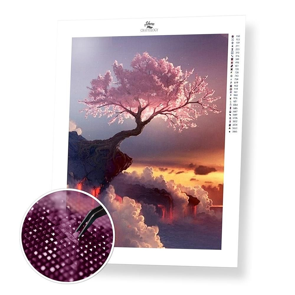 8054bc26c7 Pink Heavenly Tree - Diamond Painting Kit   Angel s   Painting ...