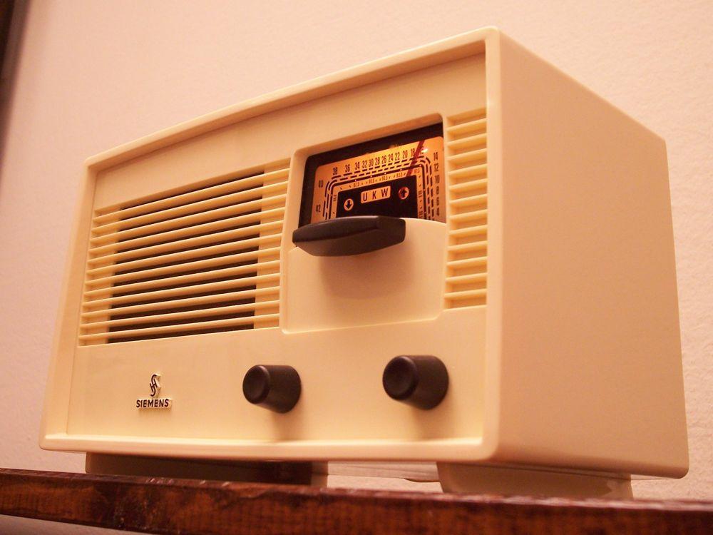 ANTICA_RADIO Siemens Super A60S Tube Radio Tuberadio Röhrenradio TSF MINT!