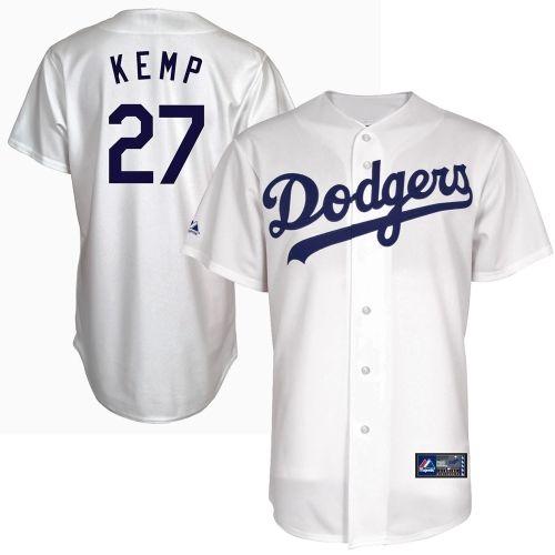 Matt Kemp L.A. Dodgers Youth  27 Majestic Replica Jersey – White ... 8dd2763e9