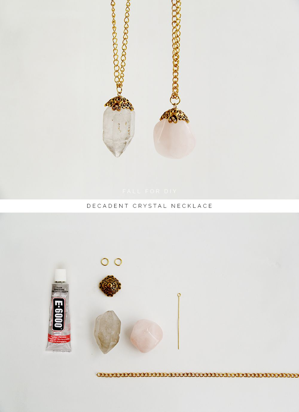 Diy decadent crystal necklace handmade jewelry diy