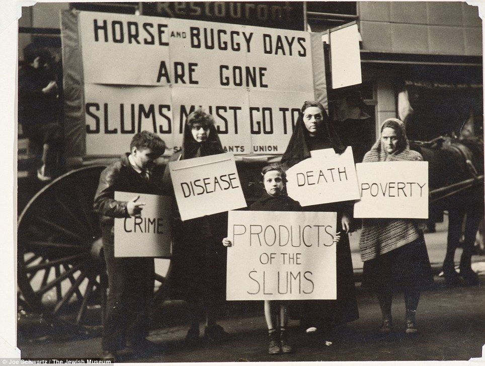 New York City In 1940s Concerned New Yorkers Protest Against Slums At The City S May Day Parade In 1936