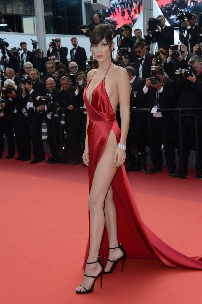 Bella Hadid Takes the Naked Dress to New Heights on the ...