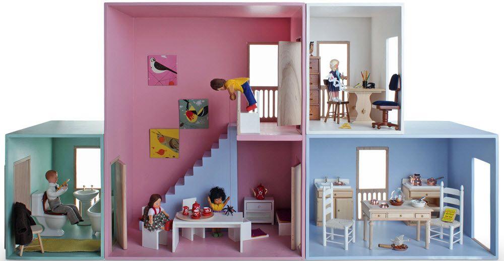 Maison de poup e modulable maisons de poupees - Construire une maison playmobil ...