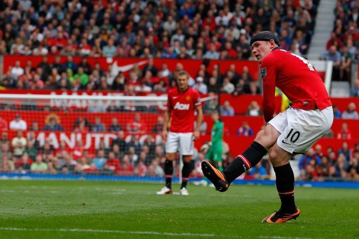 Wayne Rooney Scoring For Manchester United Against Crystal Palace Manchester Crystal Palace