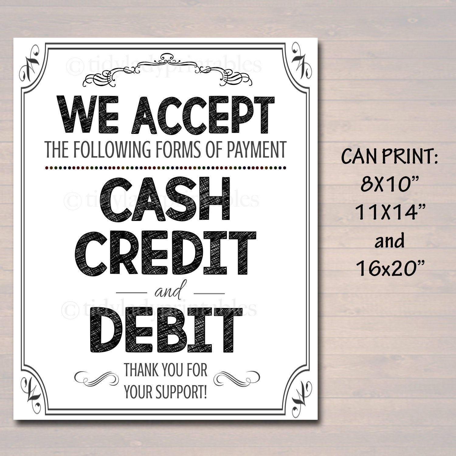 Printable Credit Card Sign Fundraising Booth Bake Sale Etsy Credit Card Sign Craft Sale Bake Sale
