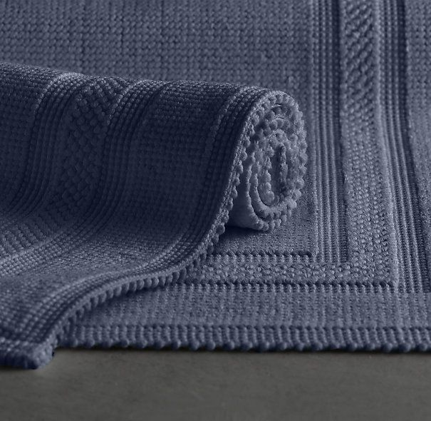 Cotton woven bath rug these are from restoration hardware they a pinterest bath rugs for Restoration hardware bathroom rugs
