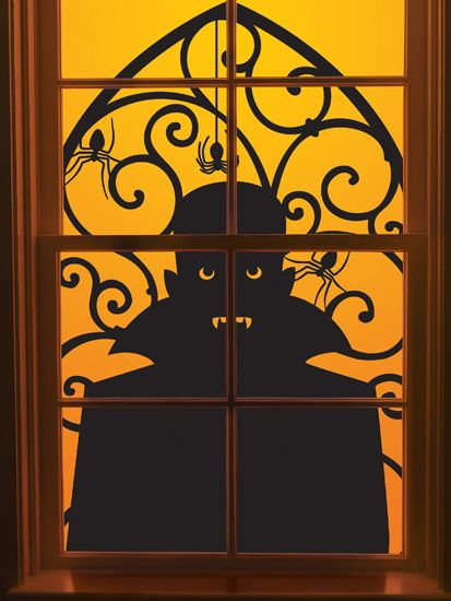 martha stewart crafts halloween window clings vampire - Halloween Window Clings