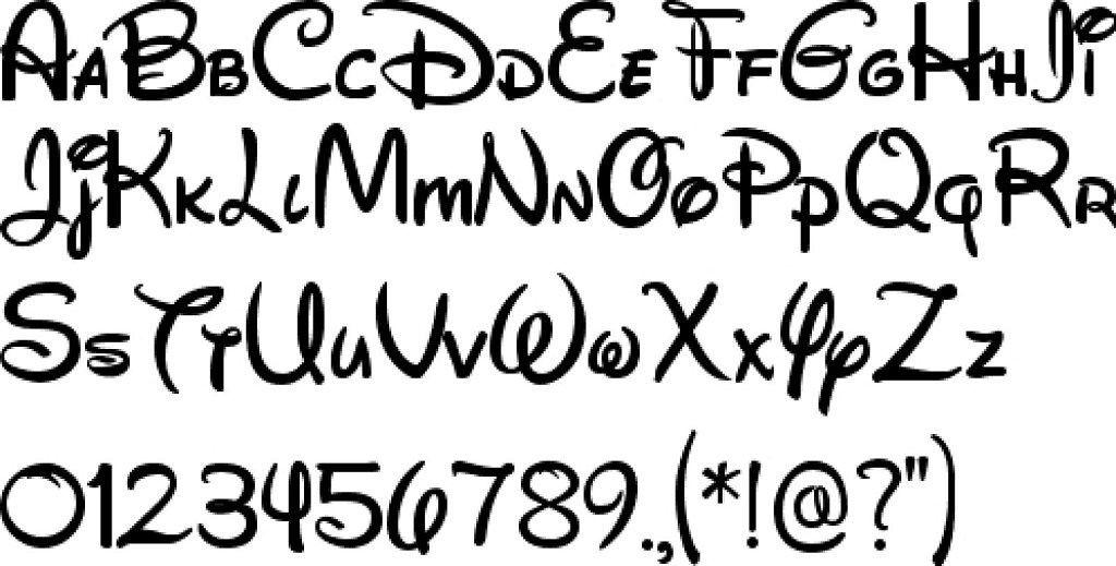 10 Letras Para Tatuajes De Estilo Disney Letras Para Tatuajes