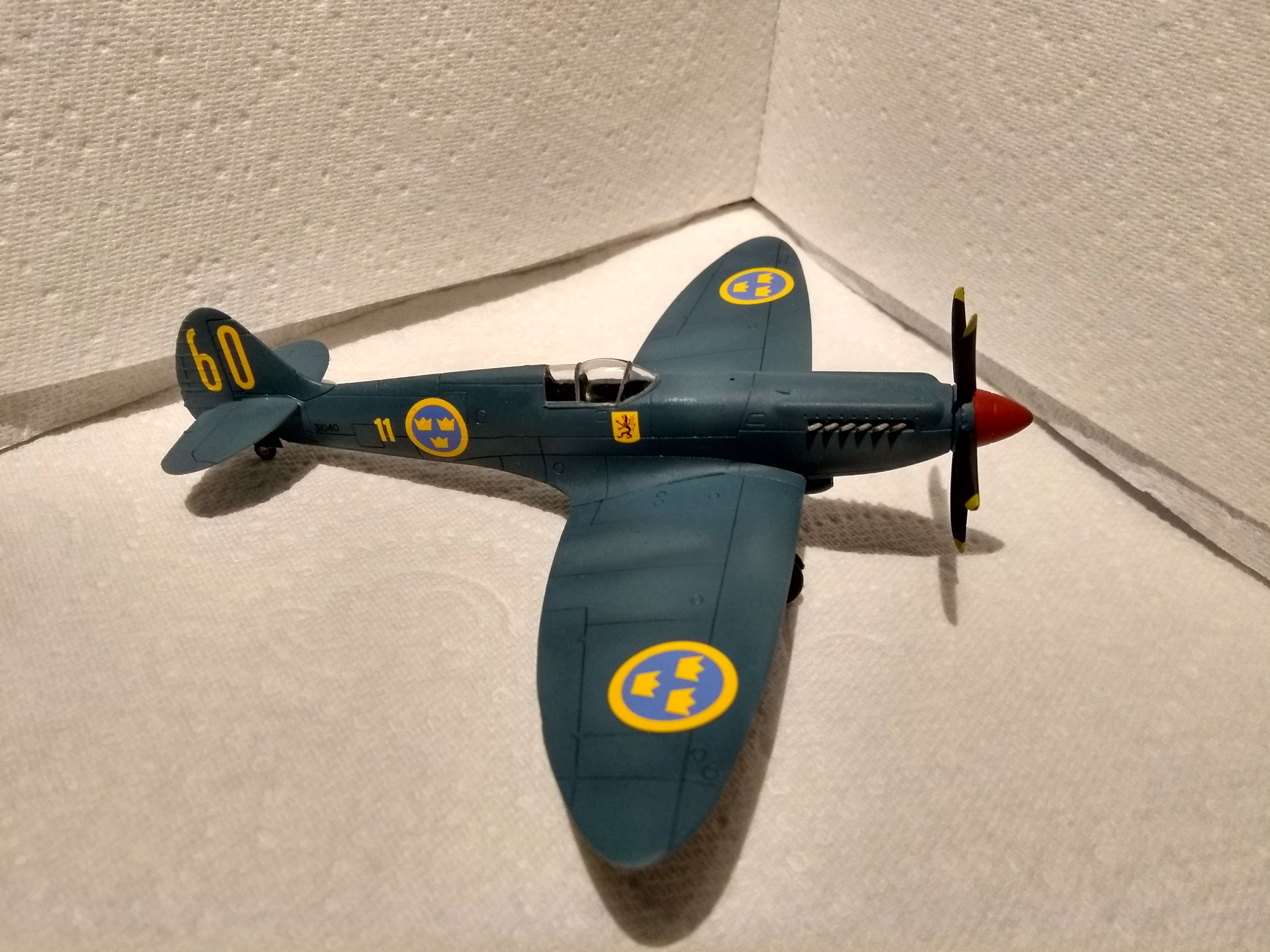 12 Hour Speed Build - Swedish Airfix Spitfire PRXIX - Ready for