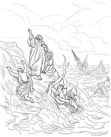 Apostle Paul Shipwrecked Coloring Page Sunday School Coloring