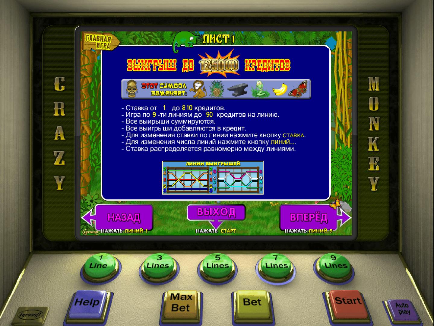 Все игры обезьянки в игровой автомат