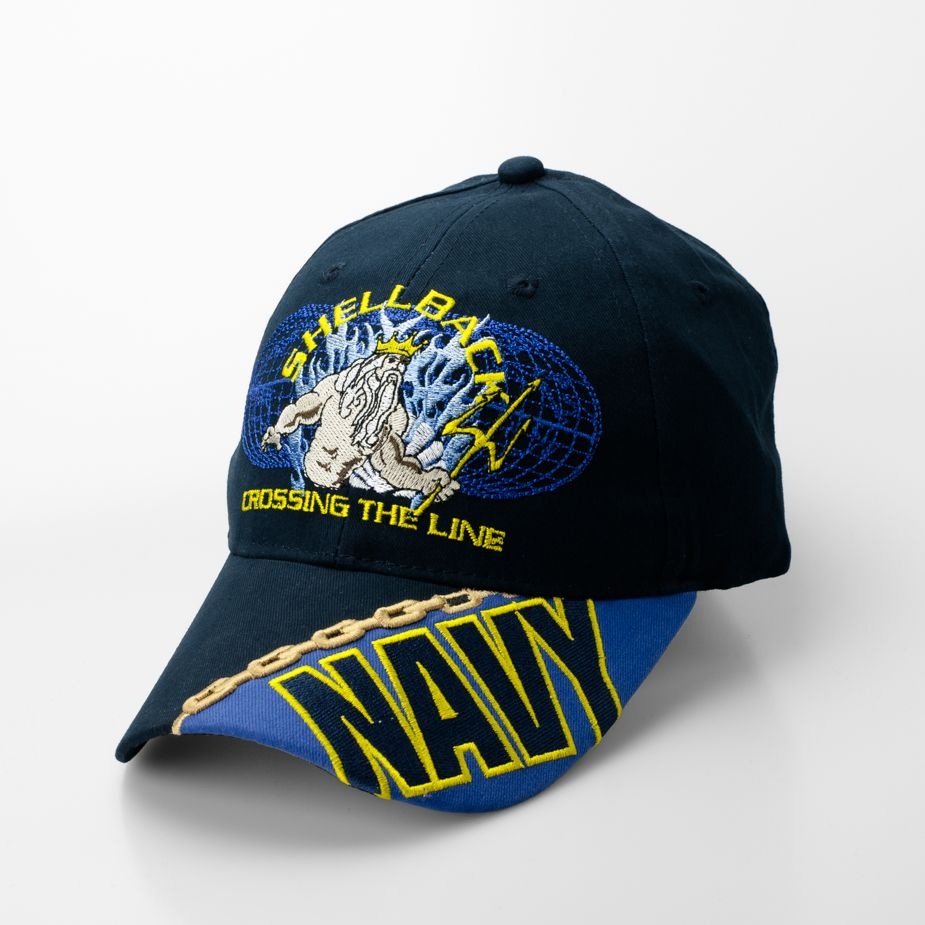 54e24c6b49006 Show your pride with this high definition embroidered Navy - Shellback