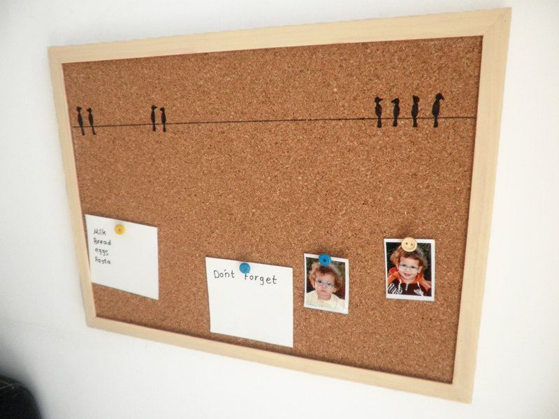 27 beautiful cork board ideas that will change the way for Kitchen cork board ideas