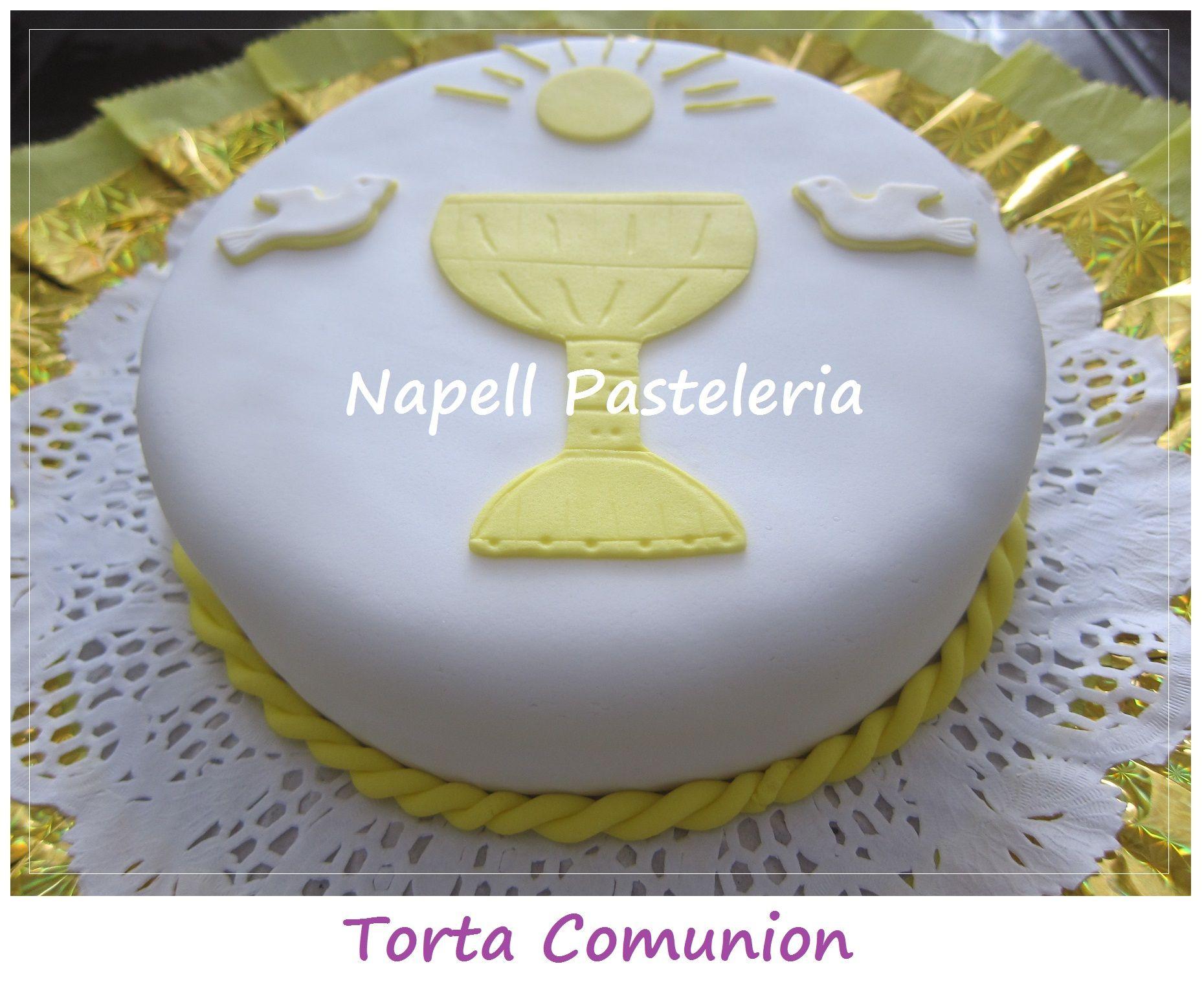 Torta Comunion | Decoracion tortas | Pinterest | Tortilla, Comunión ...