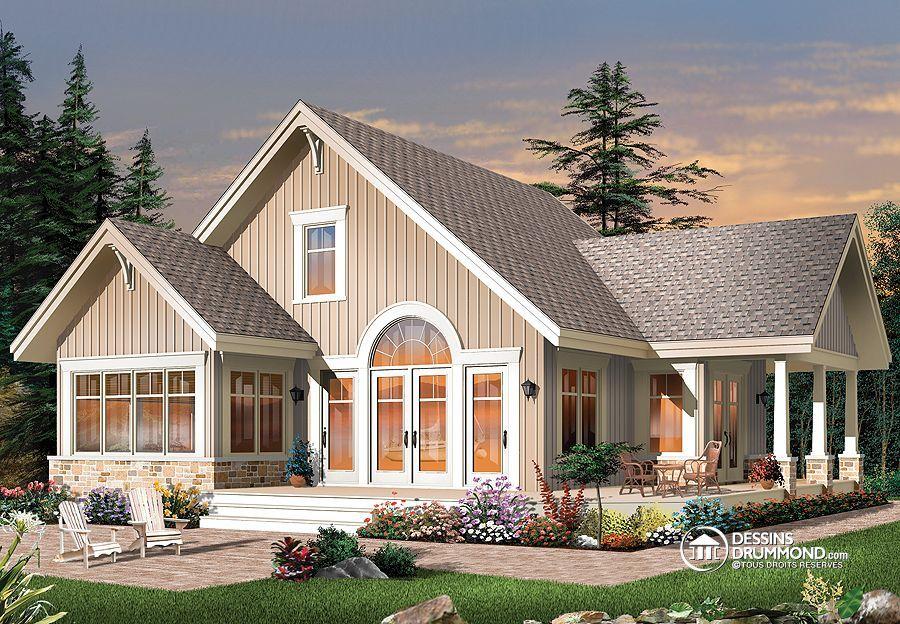 Plan de Maison unifamiliale W3945, cottage, chalet, maison, house ...