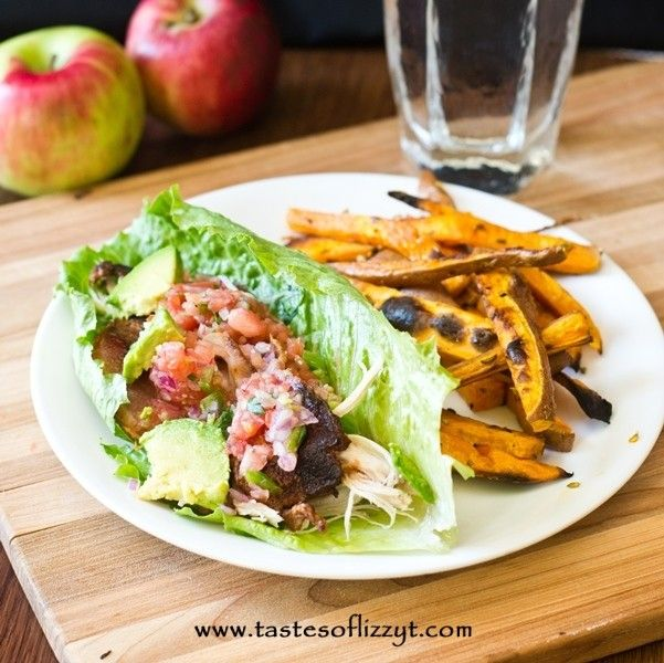 This simple Turkey and Bacon Lettuce Wrap is paleo, gluten-free, sugar-free and grain-free. Use up your leftover turkey!