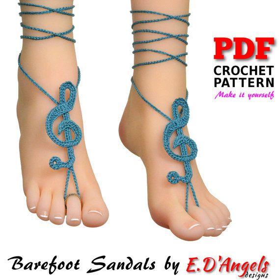 Barefoot sandals, barefoot sandal, crochet barefoot sandals
