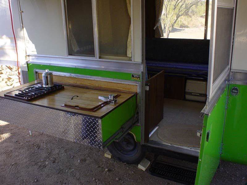 mid century mania 1978 Apache Pop Up Trailer & slider kitchen feature. Late 80s or early 90s Mom was shopping ...