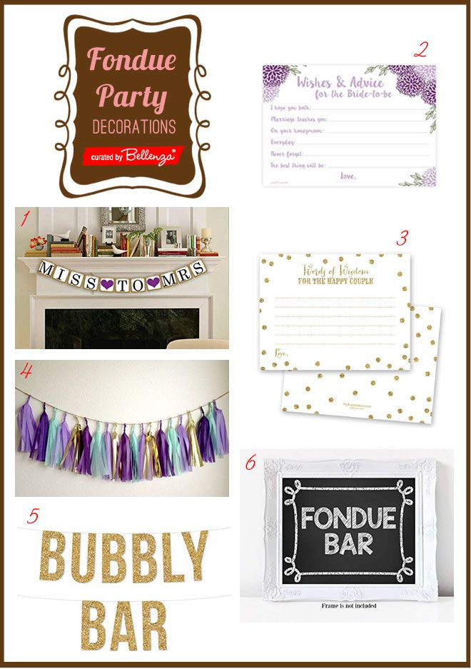 How To Plan A Fondue Bridal Shower Party Bridal Shower Themes