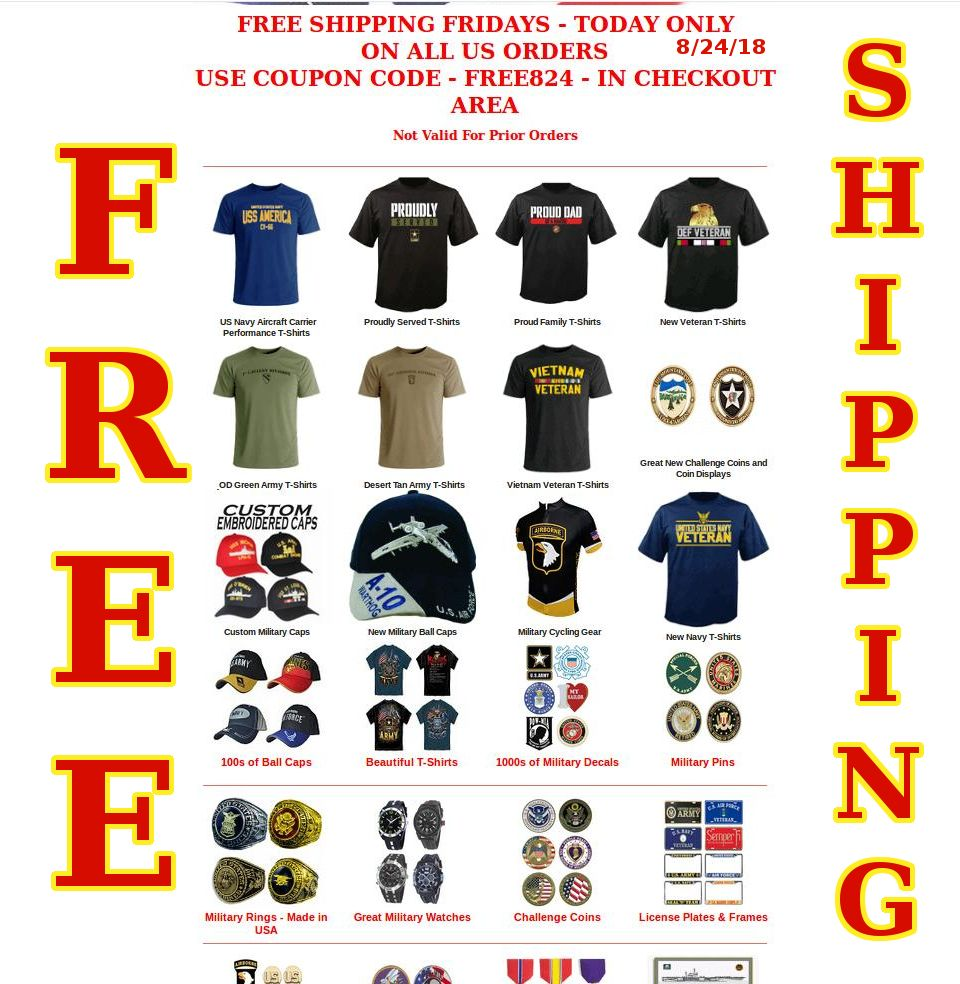 FREE SHIPPING FRIDAYS STARTS 🔥 in 2020 Military shirts