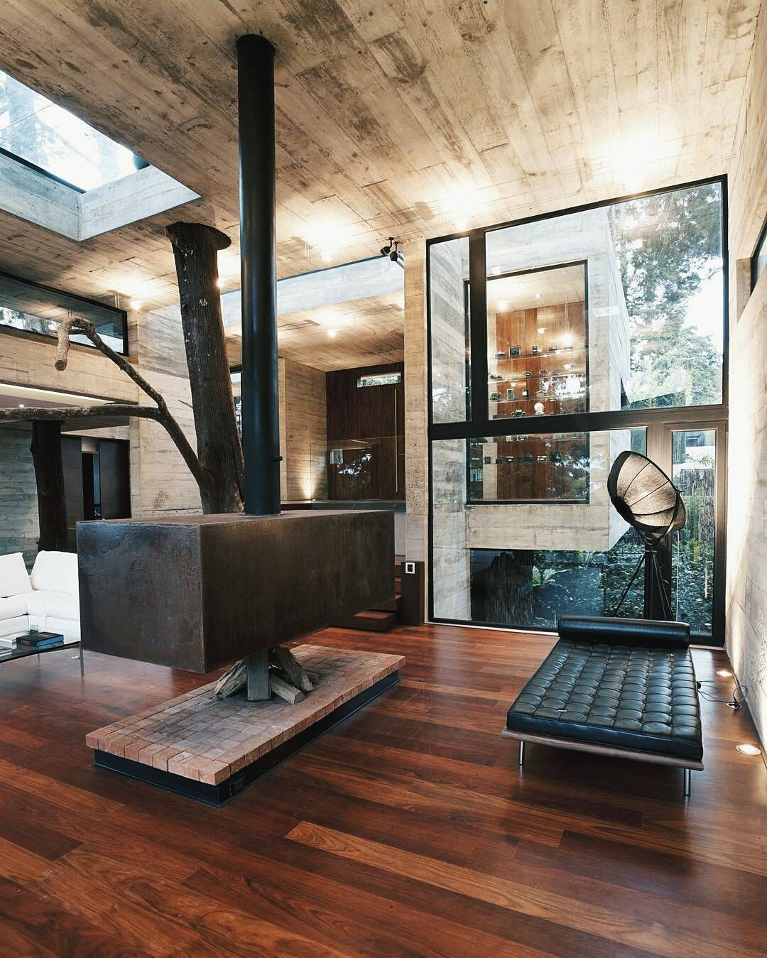 Modern Chic Living Room I Absolutely Adore This Fireplace Its Like An Old Industrial
