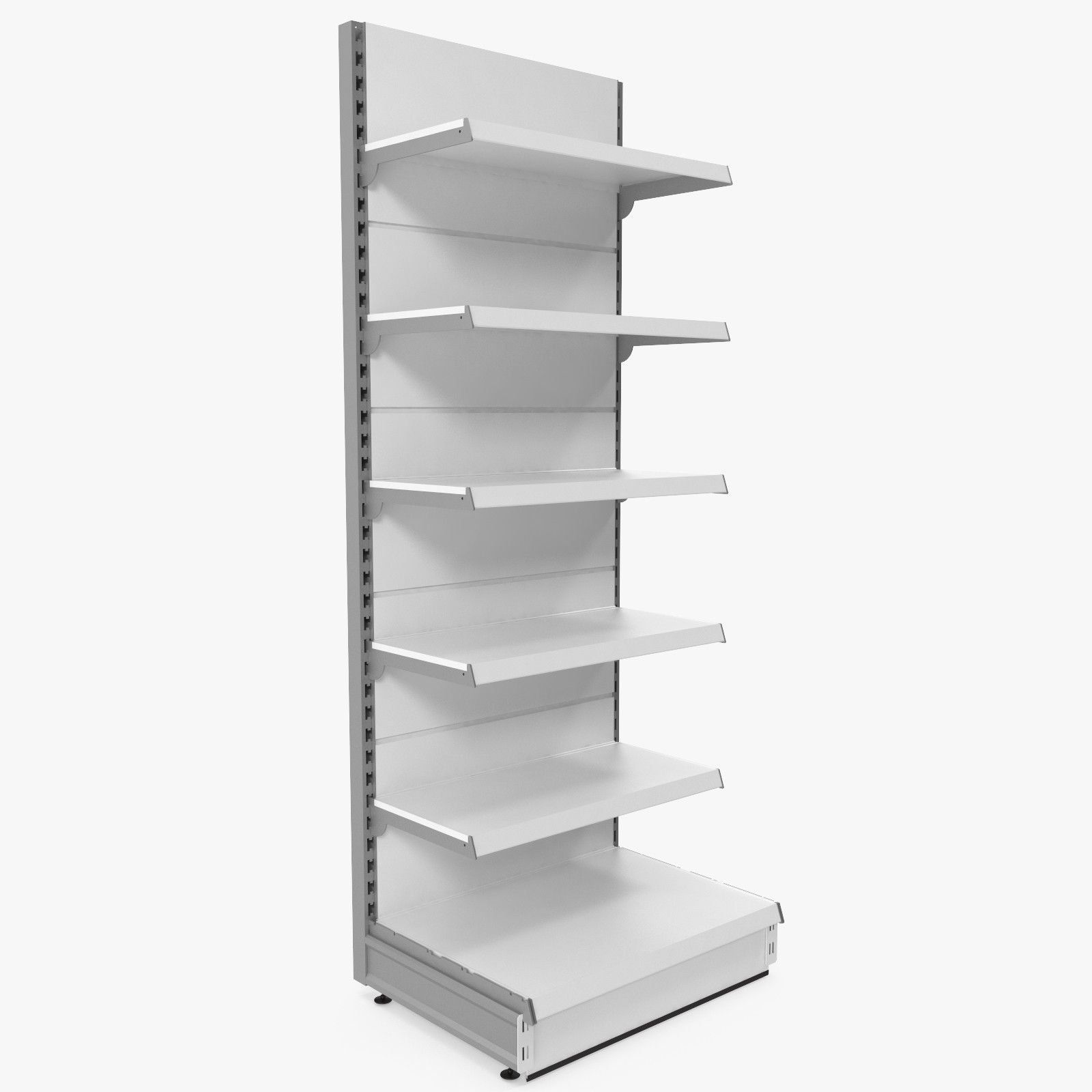 3D Supermarket Shelf Model  3D Model