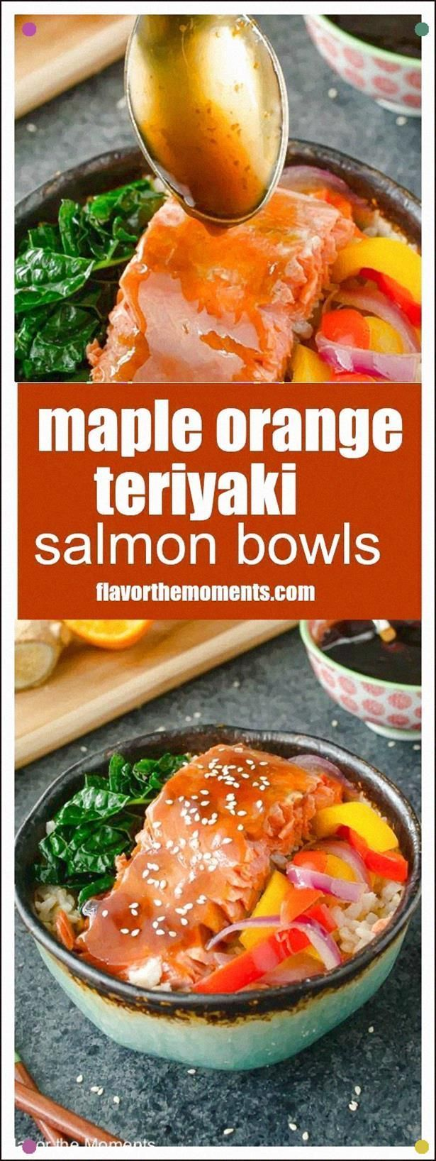 Maple Orange Teriyaki Salmon Bowls Are Salmon Filets Smothered In A Sticky Sweet Teriyaki Sauce With No Refined Sugar Its So Delicious You May Never Want Takeout Again. #teriyakisalmon Maple Orange Teriyaki Salmon Bowls Are Salmon Filets Smothered In A Sticky Sweet Teriyaki Sauce With No Refined Sugar Its So Delicious You May Never Want Takeout Again. #salmonteriyaki Maple Orange Teriyaki Salmon Bowls Are Salmon Filets Smothered In A Sticky Sweet Teriyaki Sauce With No Refined Sugar Its So Delic #teriyakisalmon