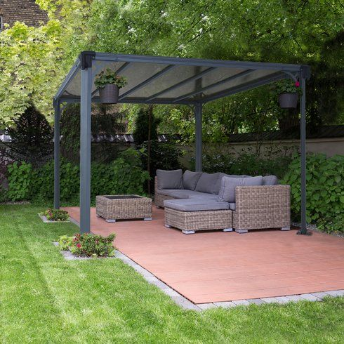 Milano 10 Ft W X 10 Ft D Aluminum Patio Gazebo Pergola Patio Patio Gazebo Backyard Patio