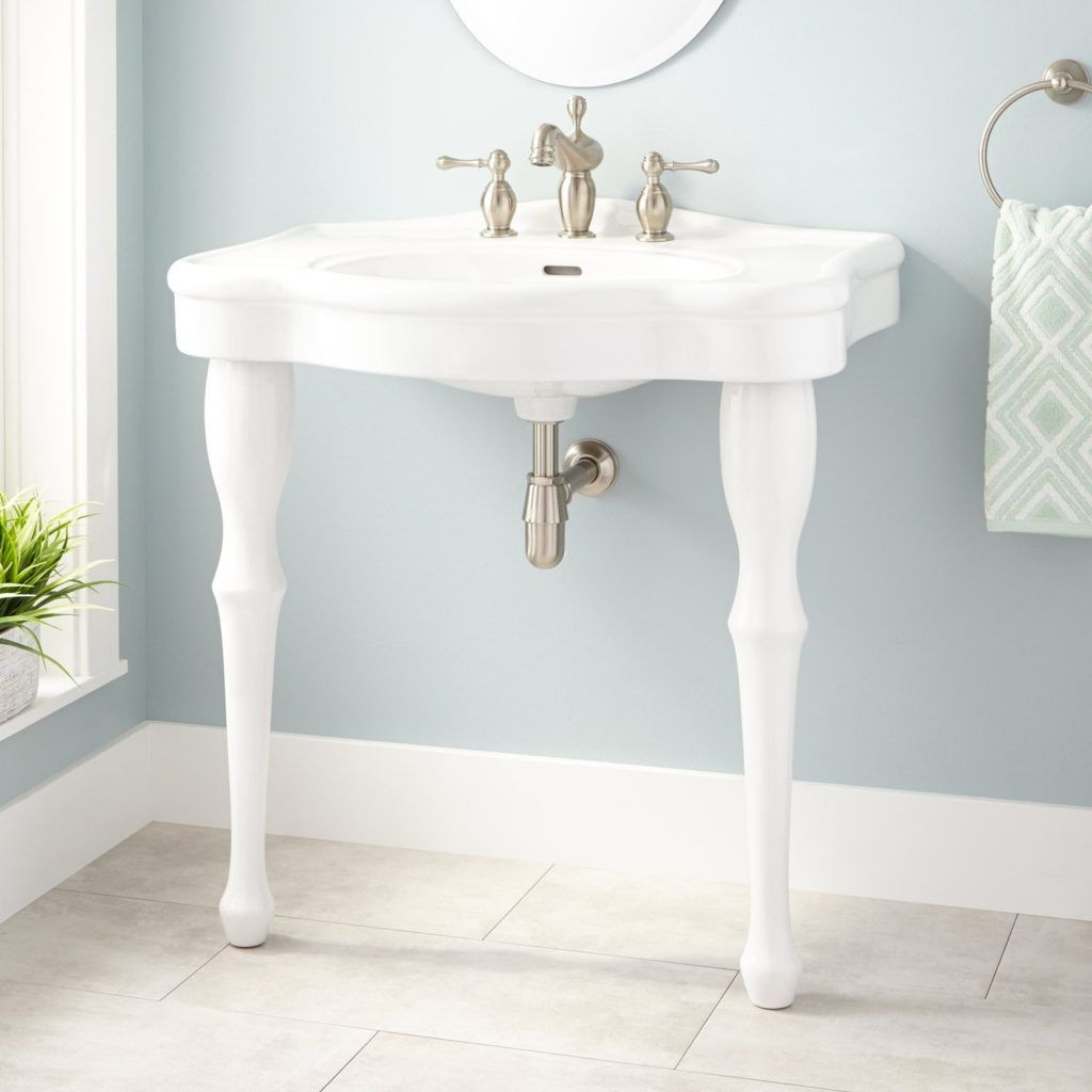 Bathroom Sinks With Legs bathroom sink with legs | design: bathroom revisited | pinterest