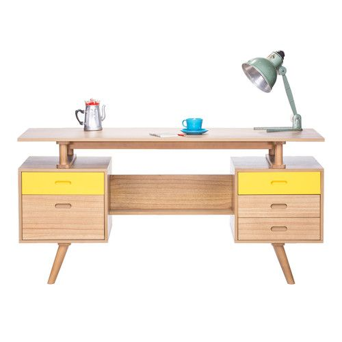 Office Study Desk Table Retro Danish Vintage Scandinavian Shabby Chic Modern Ebay Perabot Kayu Kerajinan Kayu