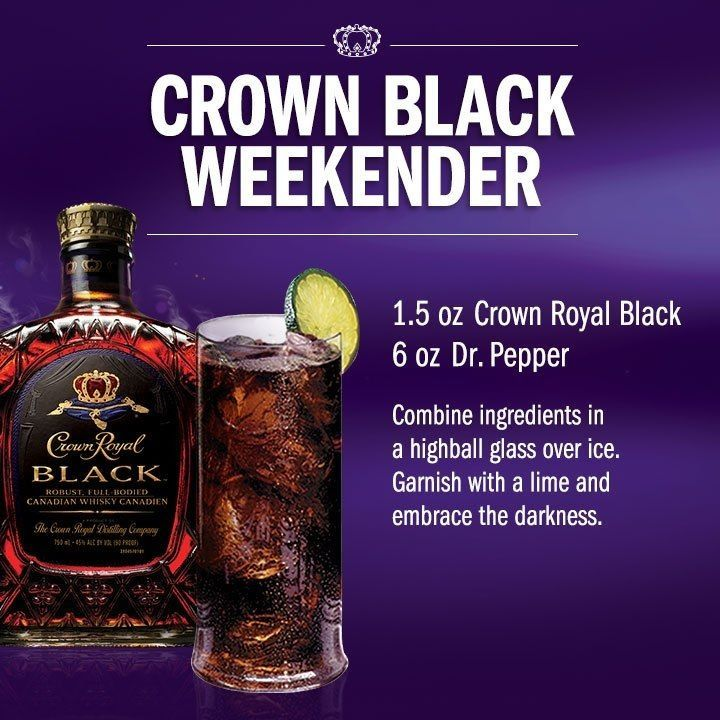 Crown Black Weekender Drink