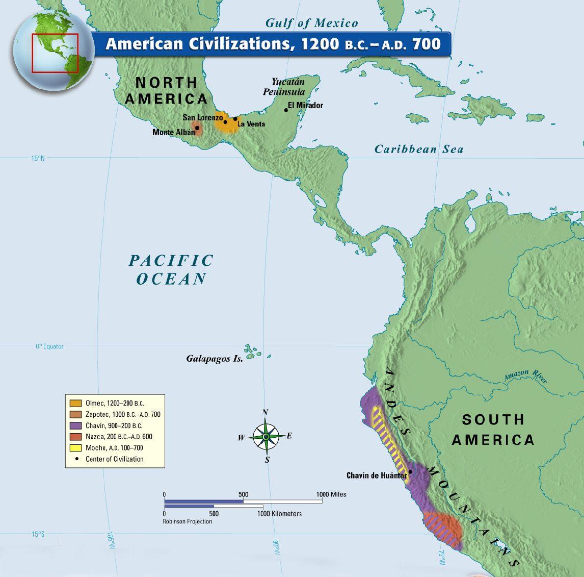 American Civilizations B C A D 700