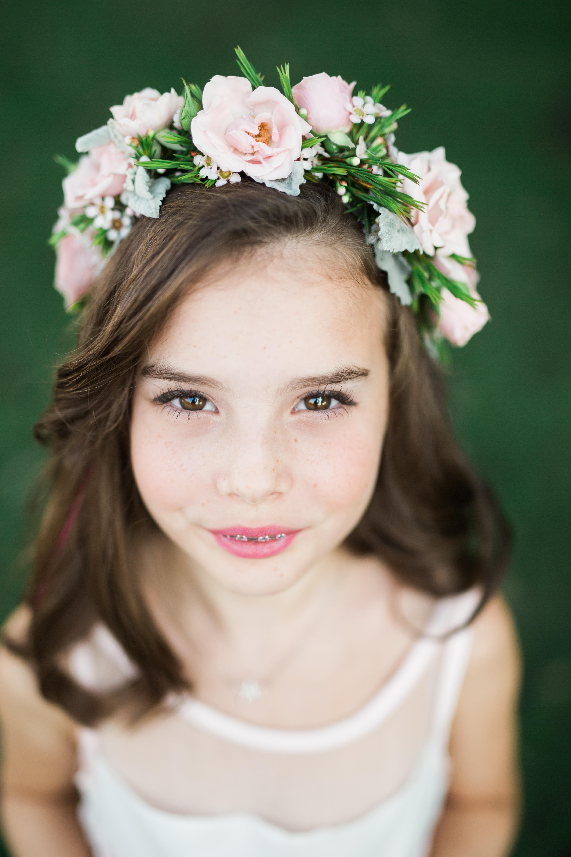 Flower Girl Flower Crown Pink Flower Crown Flower Girl Hair