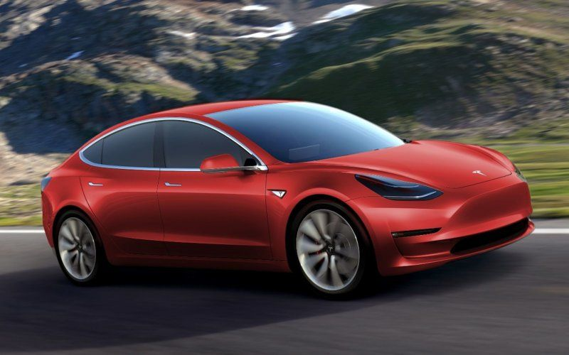 Wallpaper Tesla Model 3, luxury sedan, 2018 Tesla model