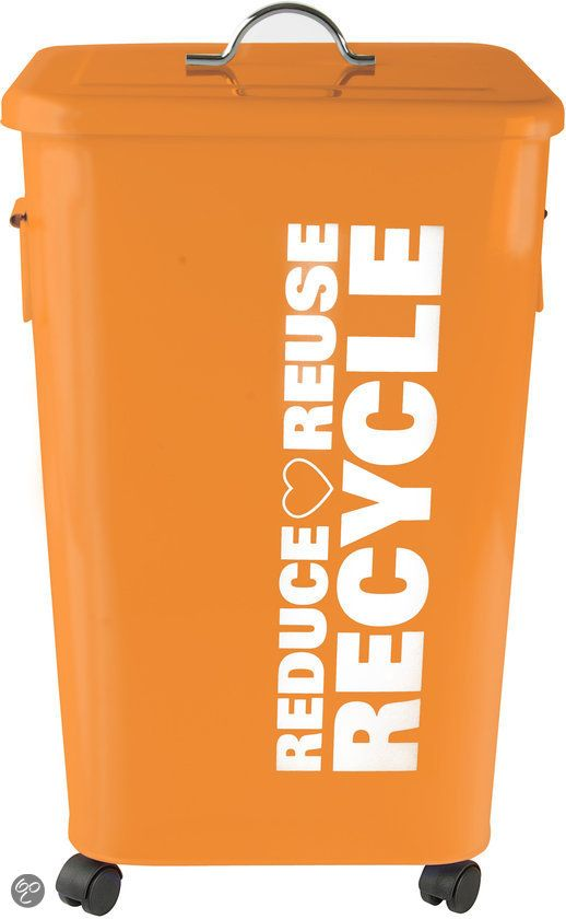 pt, Afvalemmer - Recycle - 26 l - Oranje