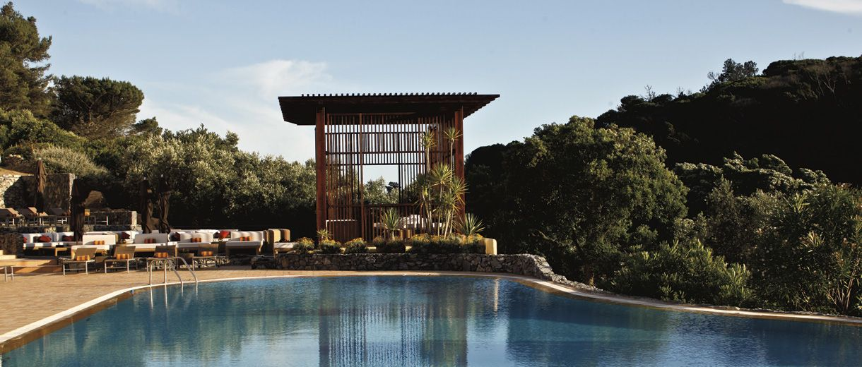 The pool gazebo at penha longa hotel sintra portugal - Hotels in lisbon portugal with swimming pool ...