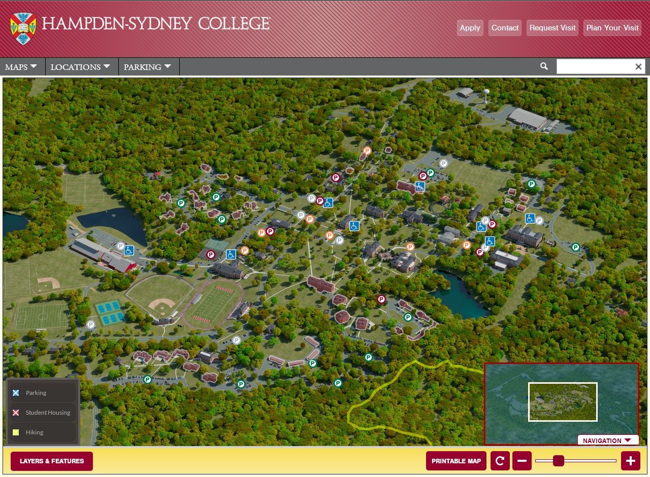 Hsc Campus Map With Active Layers Hampden Sydney College