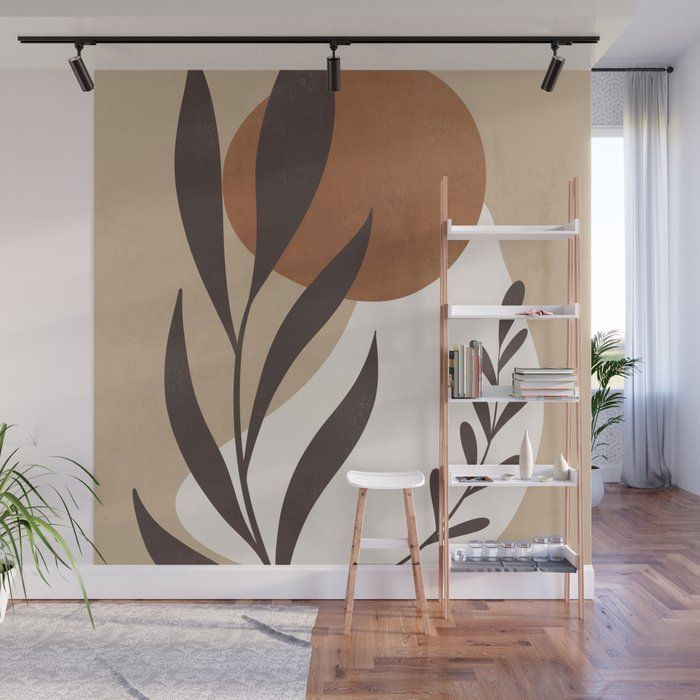 Abstract Art -plant Wall Mural by Thingdesign - 8'