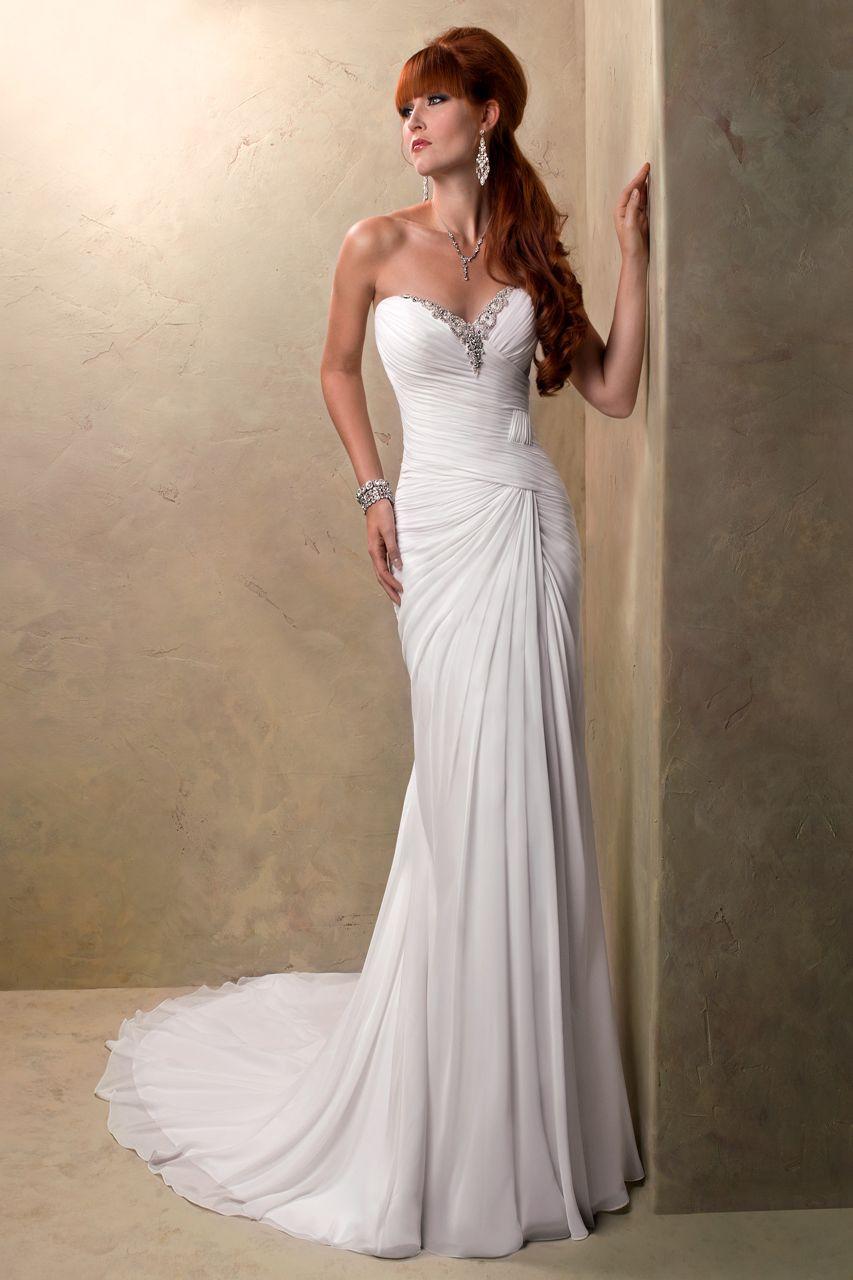 Wedding Gown Gallery   Chiffon wedding dress beach, Wedding ...