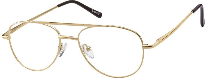 frames gold traditional aviator eyeglasses