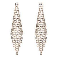 Red Herring - Gold diamante graduating chandelier earring ...
