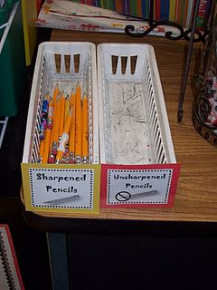 Definitely will save you time and effort while you are teaching, the students can just go grab a sharpened pencil!