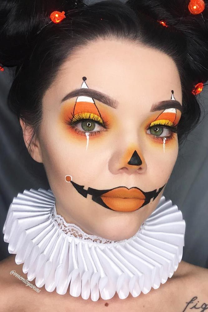 33 Sexy Halloween Makeup Looks That Are Creepy Yet Cute Halloween - face makeup ideas for halloween