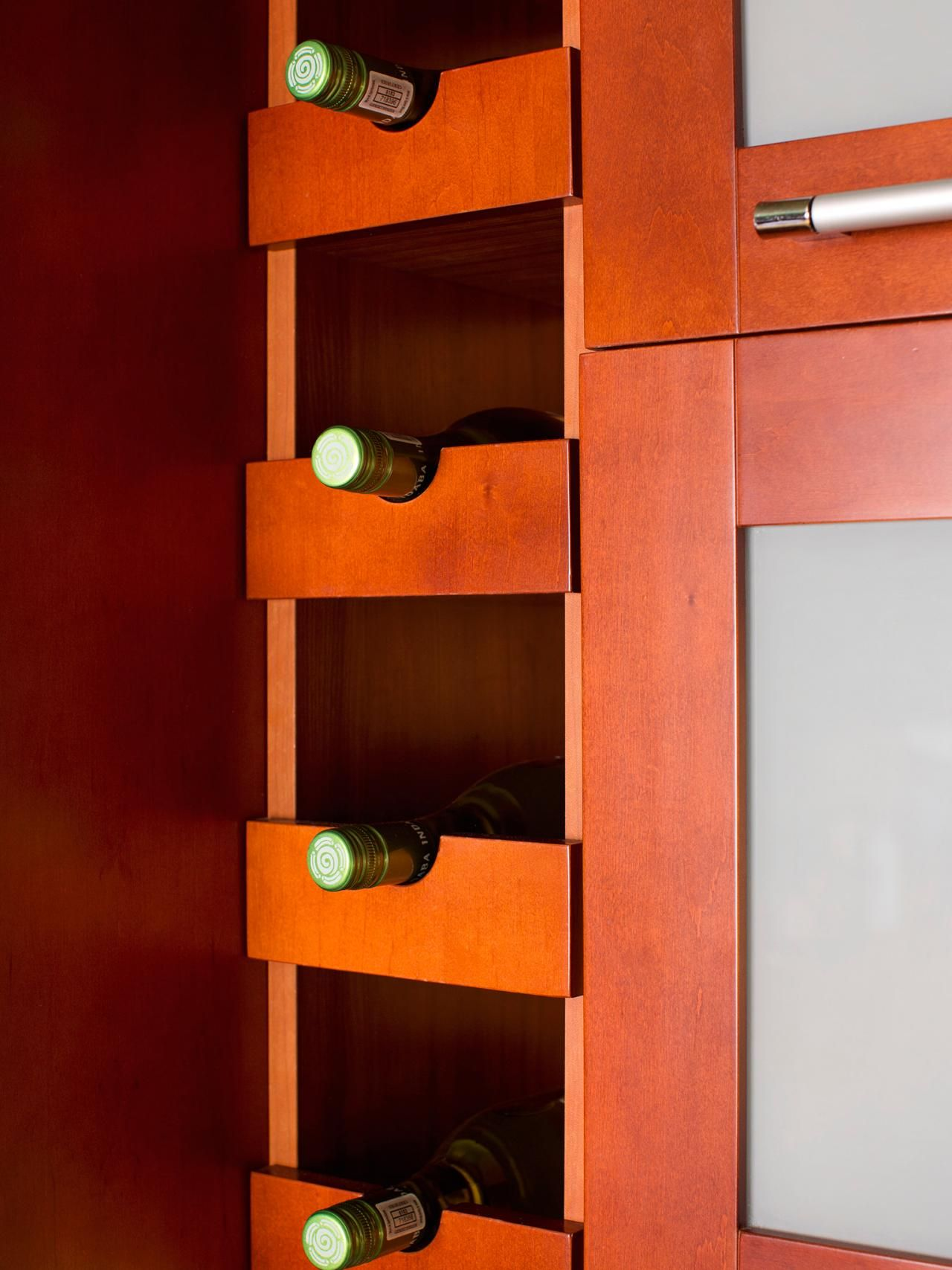 To Integrate Wine Storage Into The Kitchen Vertical Space Near The Refrigerator Was Out Kitchen Cabinet Storage Small Kitchen Pictures Kitchen Design Pictures