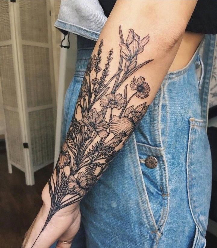 220+ Flower Tattoos Meanings and Symbolism (2021) Different Type of Designs & Ideas
