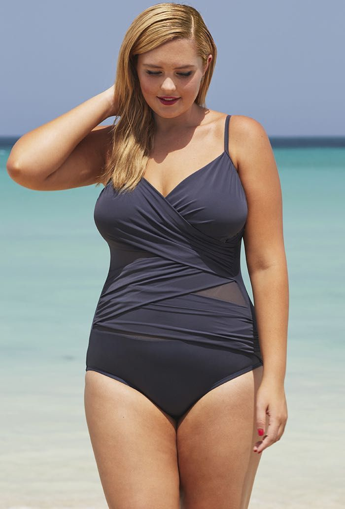 c4efb8e8625d2 Tropiculture Squalo Mesh Inset Swimsuit   One Pieces For All ...