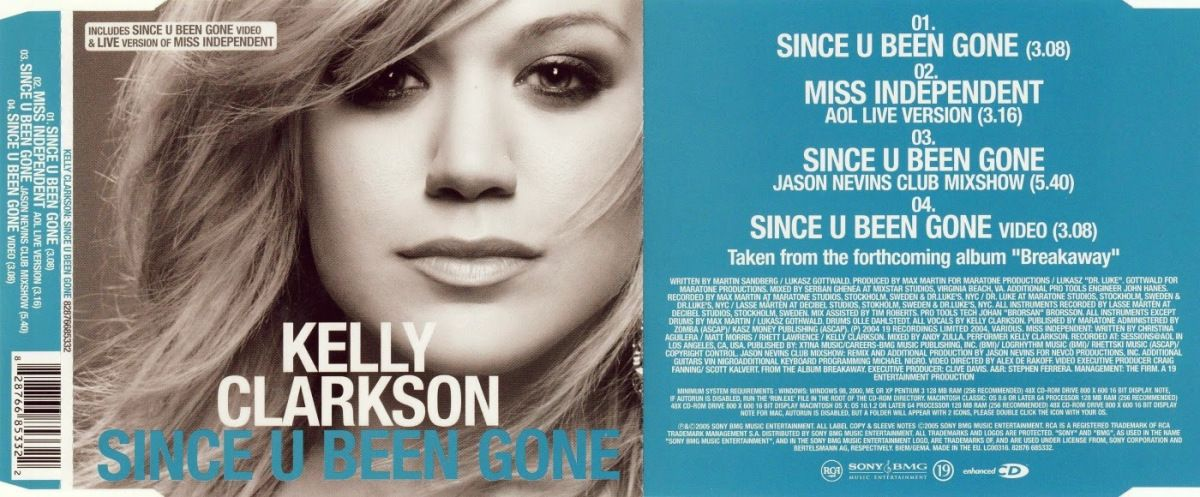 Kellie Clarkson Since U Been Gone Cover Music Album Covers Music Albums Music Artists