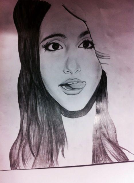 My drawing of ariana grande